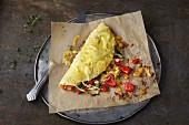 Oven-baked vegetarian omelette