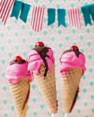 Cake pop ice creams