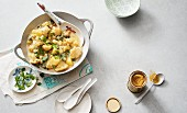 Cauliflower curry with chickpeas and potatoes