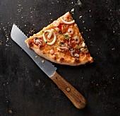 A slice of Frutti di Mare pizza