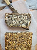 Seeded bread with hazelnuts (flourless)