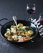 Spinach and ricotta gnocchi with sage and almond butter