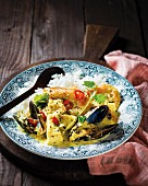 Seafood curry with vanilla (Madagascar)