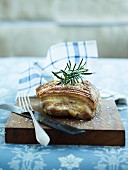 Roast pork with rosemary