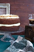 Carrot cake with almond cream