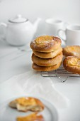 Homemade mascarpone buns
