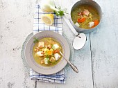 Mediterranean fish soup with aïoli garlic mayonnaise