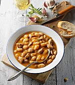 White bean soup with Italian salsiccia