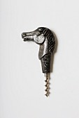A pewter horse head corkscrew, England, 1930s (Von Kunow Collection)