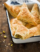 Pea and sweetcorn samosas