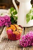 A cherry muffin
