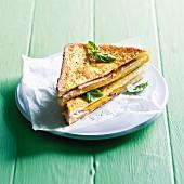 A French toast sandwich