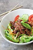 Grilled beef salad (Thailand)