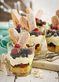 Trifles with berries and sponge fingers