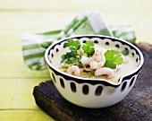 Prawn soup with coriander