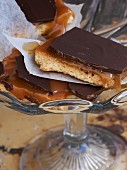 Shortbread with caramel and chocolate