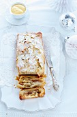 A festive apple and marzipan strudel for Christmas