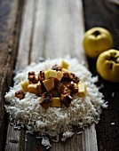 Quince curry with rice