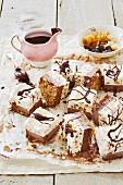 Slices of ice cream cake