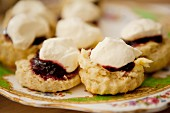 Scones with strawberry jam and cream