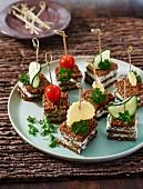 Zebra sandwiches