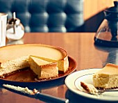 New York cheesecake in a diner (USA)