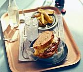 A Reuben sandwich in a diner (USA)