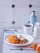 Crunchy muesli with persimmon and sheep's milk yoghurt