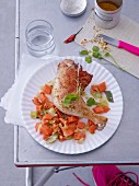 Braised chicken legs with a carrot medley
