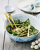 Asparagus and bean salad with a coriander dressing