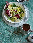 A salad with an Earl Grey dressing