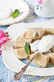 Lenivie Vareniki (Russian vanilla and ricotta dumplings made with wholemeal flour)