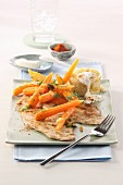 Turkey escalope with carrots