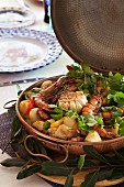 Prawn and chicken cataplana