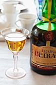 A glass of Portuguese Beirao liqueur