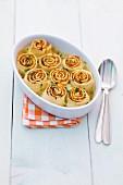Pasta rolls with a pumpkin filling