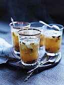 Pear and sauerkraut punch with spices