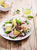 Beetroot and radish salad