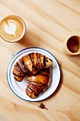 Israeli pastries: Rugelach (chocolate croissants)