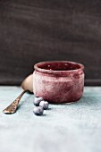 Homemade blueberry sorbet