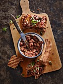 Beet tartare with bread