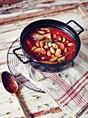 Potato goulash with beans