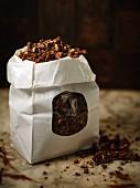 A bag of chocolate muesli