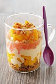 Trifle with mango and grapefruit
