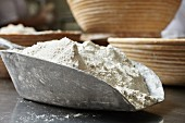 Flour in a scoop