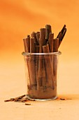 A jar of cinnamon sticks