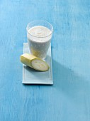 A banana shake made with buttermilk