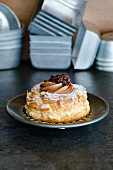 Paris Brest (choux pastry filled with cream, France)