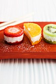 Sweet fruit sushi