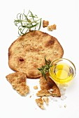 Unleavened bread with rosemary and olive oil